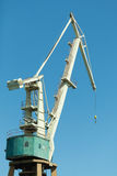 Lonely crane in port. Royalty Free Stock Photos