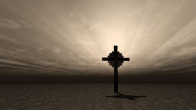 Lonely Cross Stock Photos