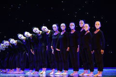 The lonely dancer-Modern dance. June 10, 2015, the Jiangxi Vocational Academy of Art dance show performance Stock Photo