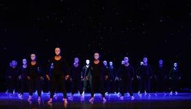 The lonely dancer-Modern dance. June 10, 2015, the Jiangxi Vocational Academy of Art dance show performance Stock Photos