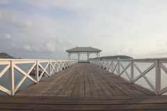 Lonely day at Assadang bridge,Srichang Island ,Chonburi,Thailand Stock Photos