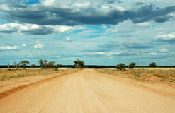 Lonely desert outback road, Australia Royalty Free Stock Image