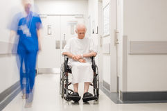 Lonely disabled at hospital royalty free stock photo