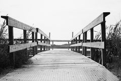 Lonely dock. A fishing dock at Maria State Park in Minnesota Royalty Free Stock Images