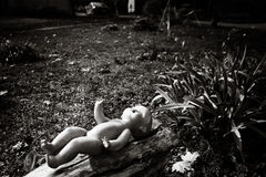 The lonely doll in urban scene Stock Photography