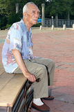 Lonely elderly Stock Photography
