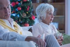 Lonely elderly couple Stock Image