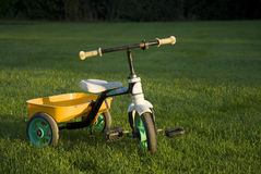 Lonely empty child bike Stock Images