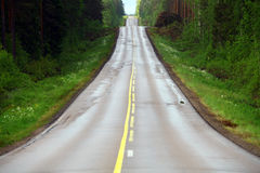 Lonely empty road Stock Photography
