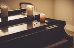 Lonely Evening with Piano Stock Photos