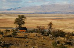 Lonely farmhouse in Patagonia Royalty Free Stock Photos