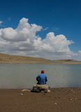 Lonely Fisher Man Stock Image