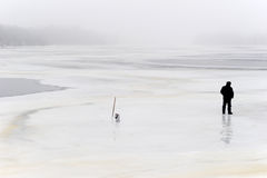 Lonely fisherman Royalty Free Stock Photography