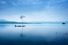 Lonely fisherman Royalty Free Stock Photos