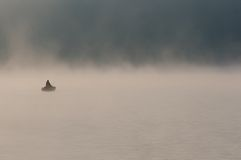 Lonely fisherman Royalty Free Stock Images