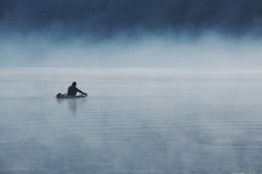 Lonely Fisherman 2 Royalty Free Stock Photography