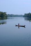 Lonely fisherman. Royalty Free Stock Image