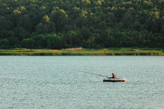 The lonely fisherman Stock Photography