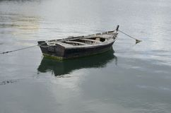 Lonely fishing boat Royalty Free Stock Photos
