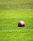 Lonely football Stock Photo