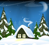 Lonely forest hut royalty free stock photo