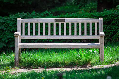 Lonely garden bench Royalty Free Stock Image