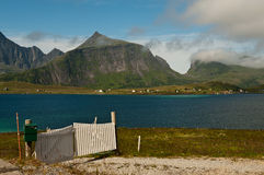 Lonely gate in Lofoten Royalty Free Stock Photography