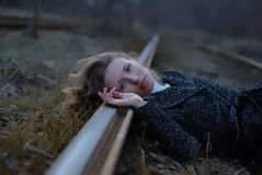 The lonely girl royalty free stock image