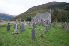 A lonely graveyard in the Scottish highlands. This beautiful image depicts A lonely graveyard in the Scottish highlands Stock Images