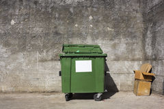 The lonely  green container Stock Images