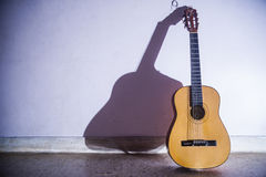 Lonely Guitar Stock Images