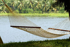 Lonely hammock in beautiful resort Royalty Free Stock Image