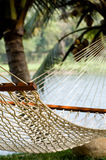 Lonely hammock in beautiful resort Royalty Free Stock Photos