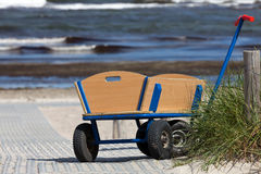A lonely handcart Royalty Free Stock Image