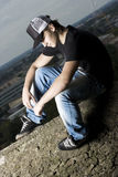 Lonely handsome young teenage boy Royalty Free Stock Photography