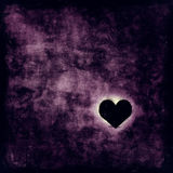 Lonely heart. Illustration of a lonely heart in a dark room Royalty Free Stock Photos