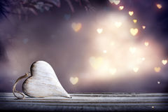 Lonely Heart With Lights - Shabby Royalty Free Stock Photos