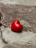 Lonely heart on a road Royalty Free Stock Photography