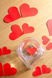 Lonely heart trapped in a glass jar - Series 2 Royalty Free Stock Images