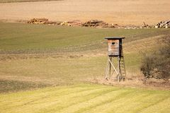 Lonely high seat on meadow Stock Photography