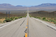 Lonely highway 6 in Nevada Royalty Free Stock Photo