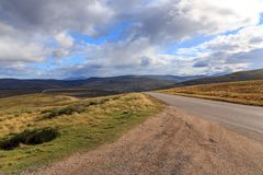 Highway through the Cairngorms royalty free stock photo