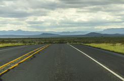 On a lonely highway in Texas Royalty Free Stock Image
