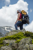 Lonely hiker Stock Photography