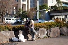Sad japanese homeless Stock Photo