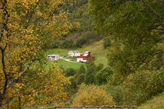 Lonely house. In a norway nature Stock Photos