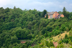 Lonely house. A lonely house, by small city Saarburg, Rheinland-Pfalz, Germany Stock Photo