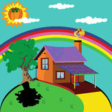 Lonely house Royalty Free Stock Photos