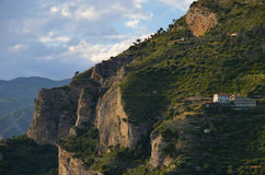 Lonely house on a cliff Royalty Free Stock Image