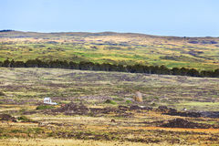 Lonely house in empty landscape. In Easter Island royalty free stock photography